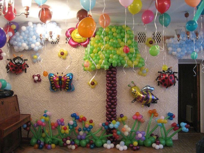 Как украсить шариками комнату для ребенка